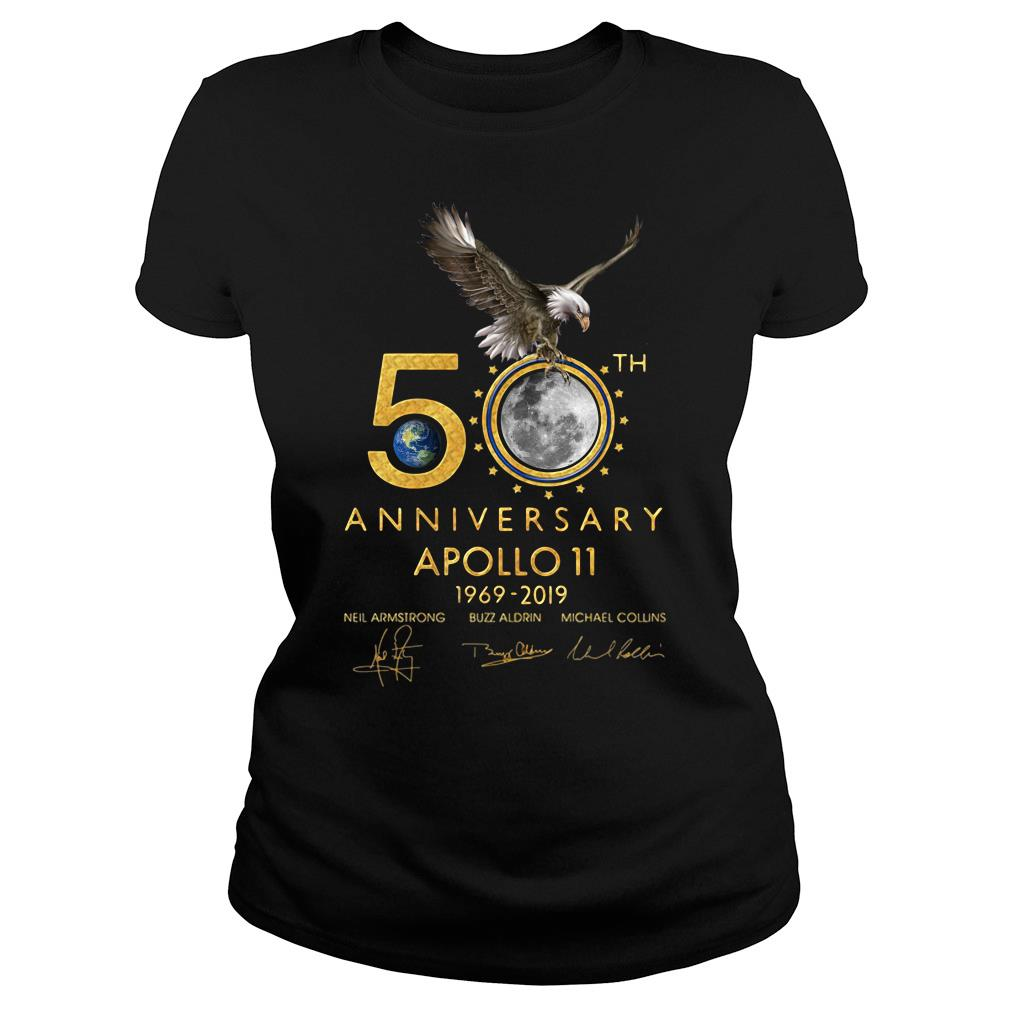 Eagles 50th Anniversary Apollo 11 1969 2019 Signature Shirt ladies tee