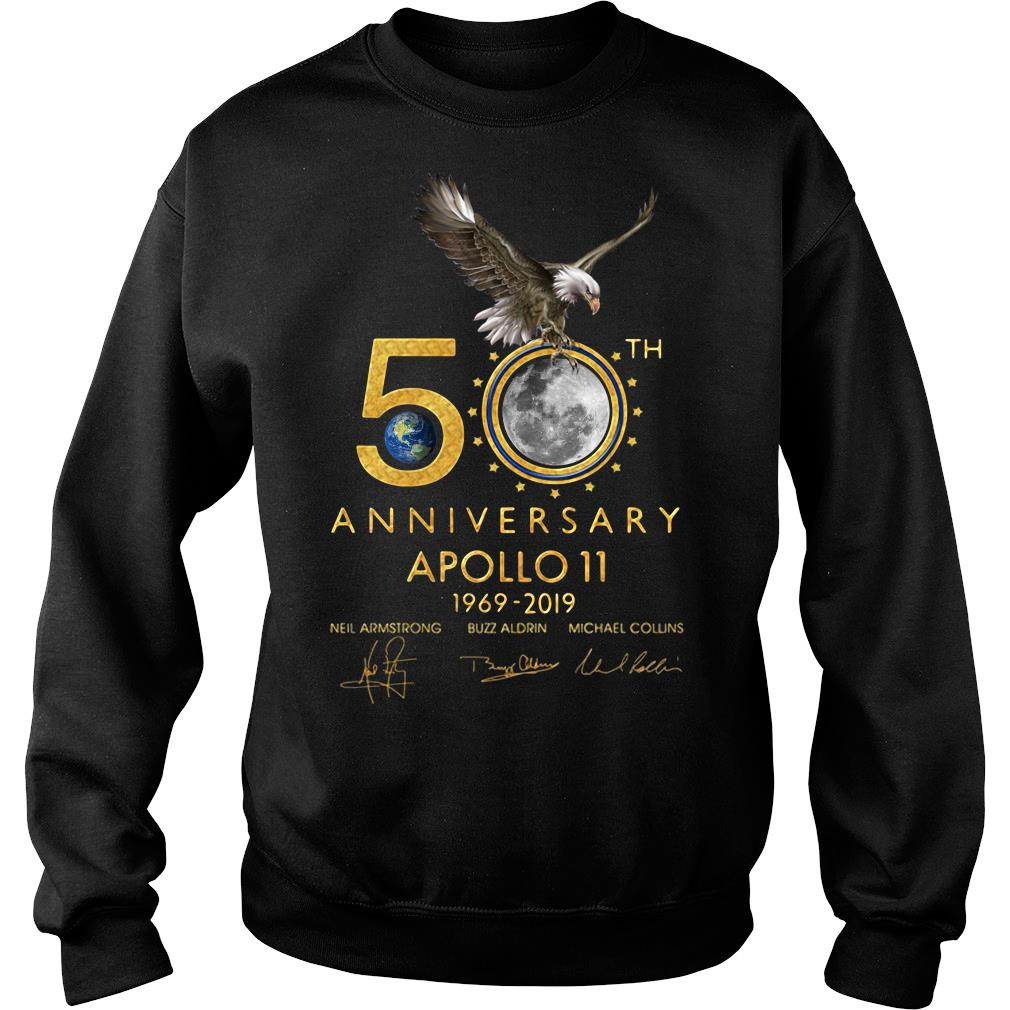 Eagles 50th Anniversary Apollo 11 1969 2019 Signature Shirt sweater