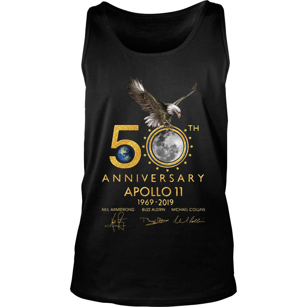 Eagles 50th Anniversary Apollo 11 1969 2019 Signature Shirt tank top