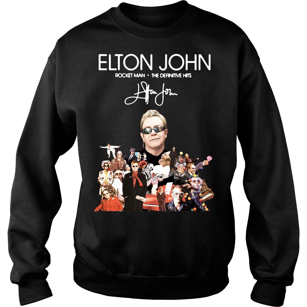 Elton John Rocket Man The Definitive Hits Shirt sweater
