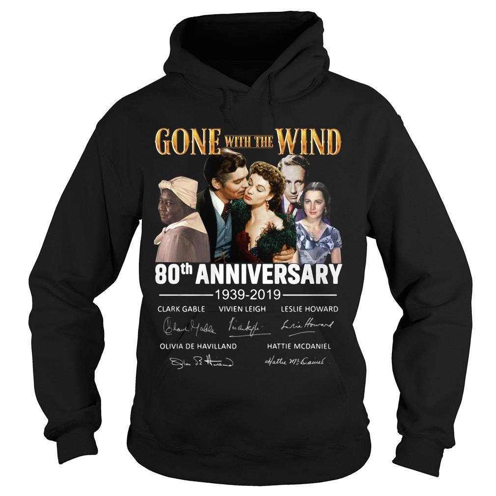 Gone With The Wind 80th Anniversary Signature Shirt hoodie