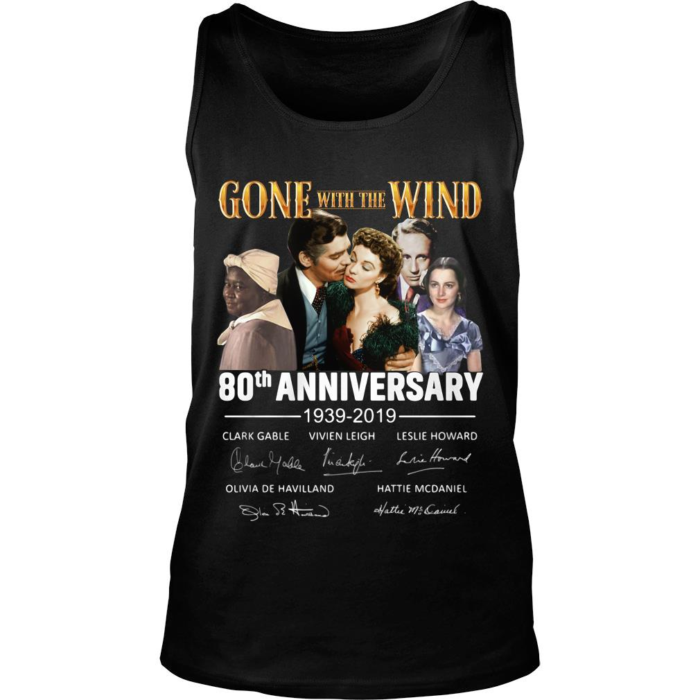 Gone With The Wind 80th Anniversary Signature Shirt tank top