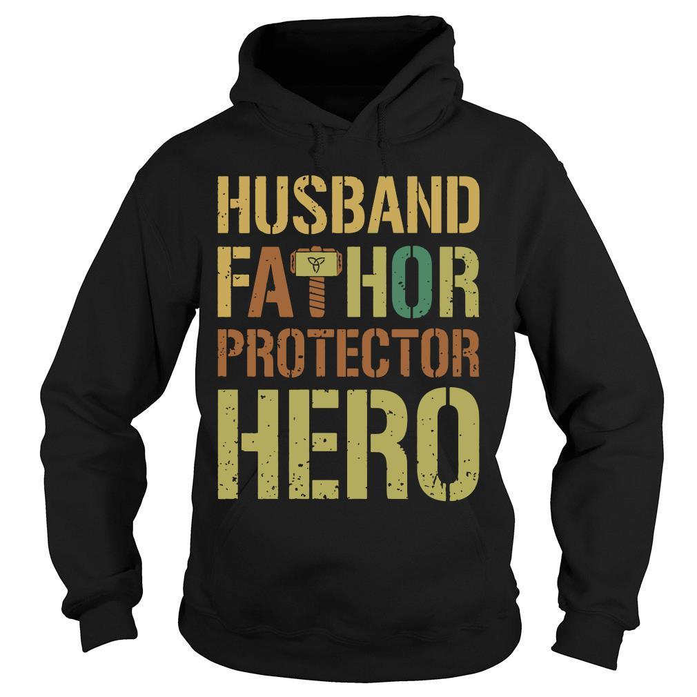 Husband fathor protector hero shirt hoodie