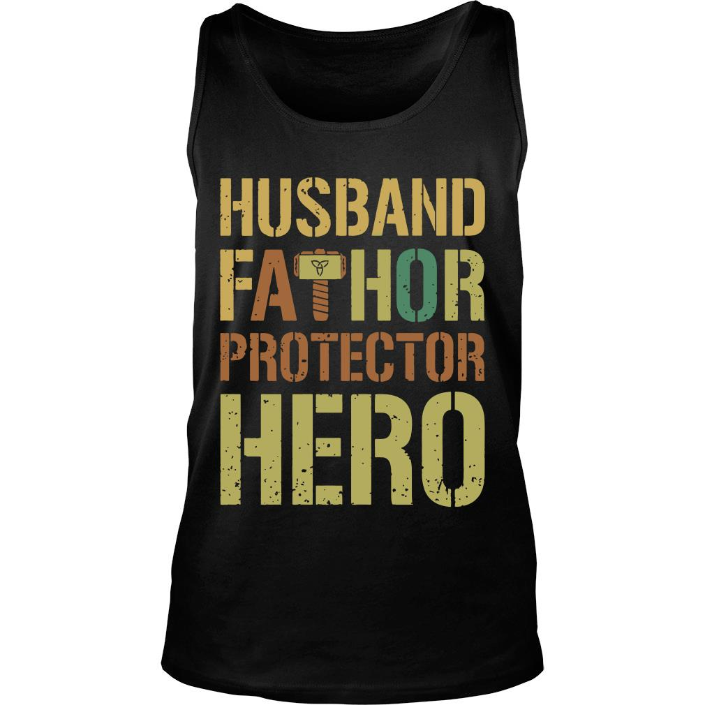 Husband fathor protector hero shirt tank top