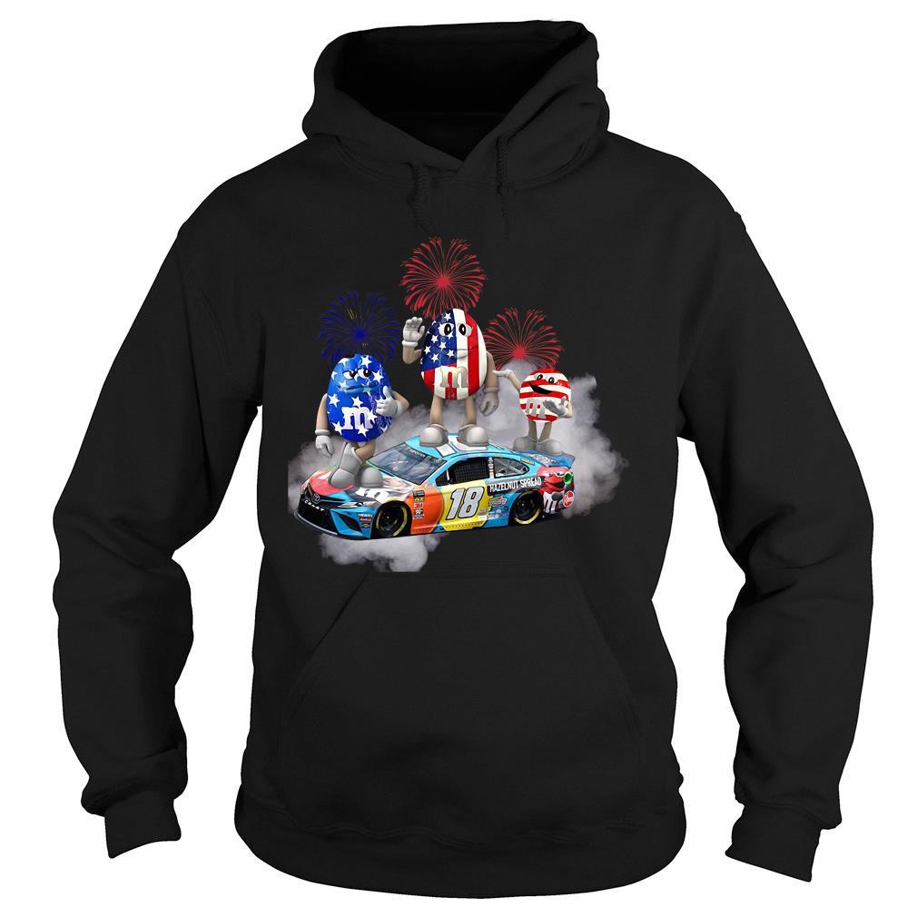 Kyle Busch M'm Flag America 18 Hazelnut Spread Shirt hoodie