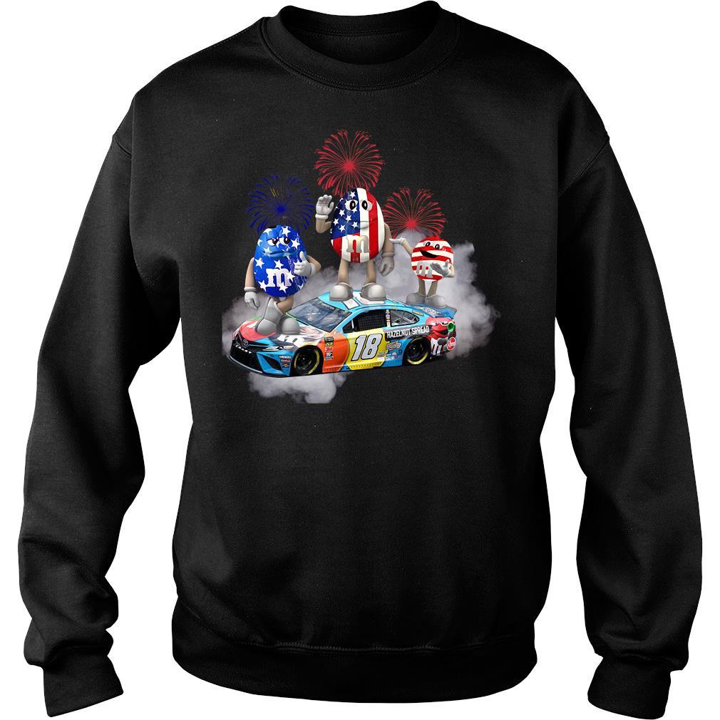 Kyle Busch M'm Flag America 18 Hazelnut Spread Shirt sweater