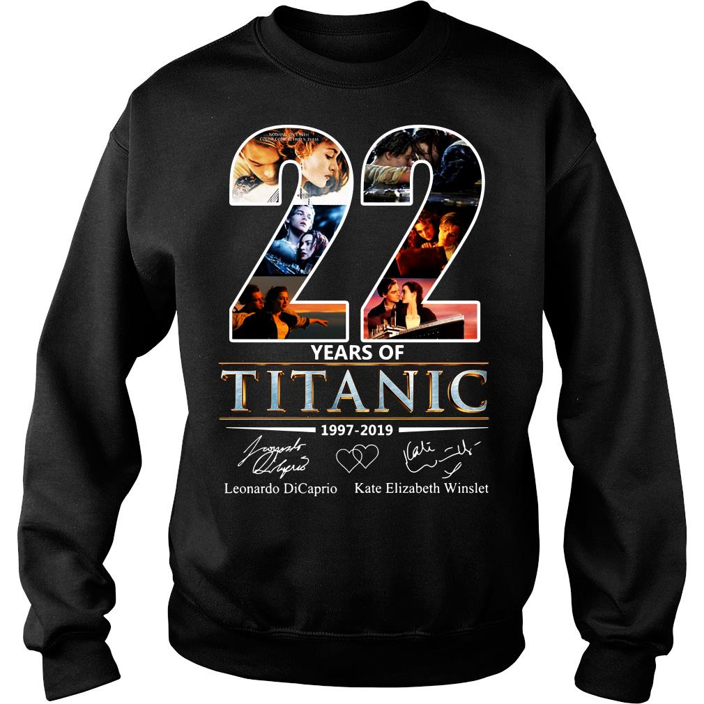 Leonardo Dicaprio and Kate Elizabeth Winslet 22 Years of Titanic 1997 - 2019 shirt sweater