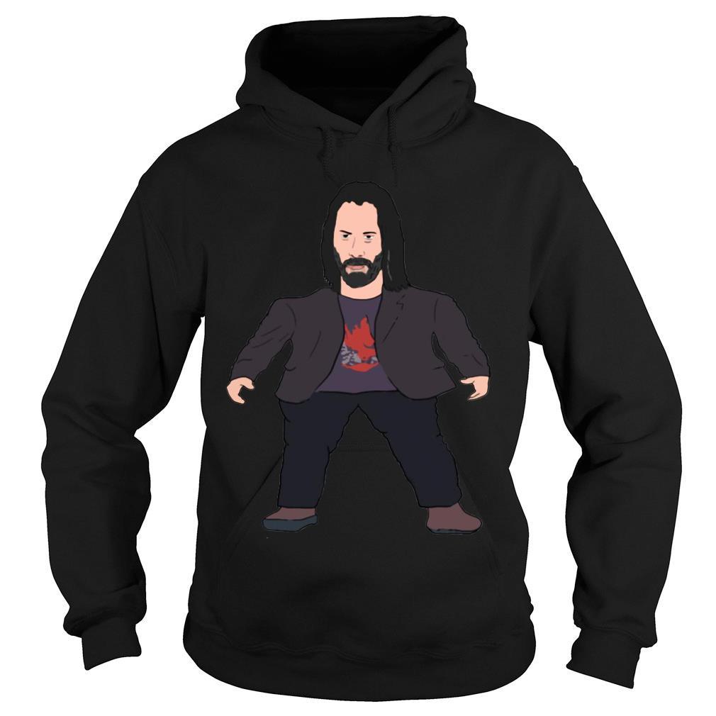Mini Keanu Reeves Meme Long shirt hoodie