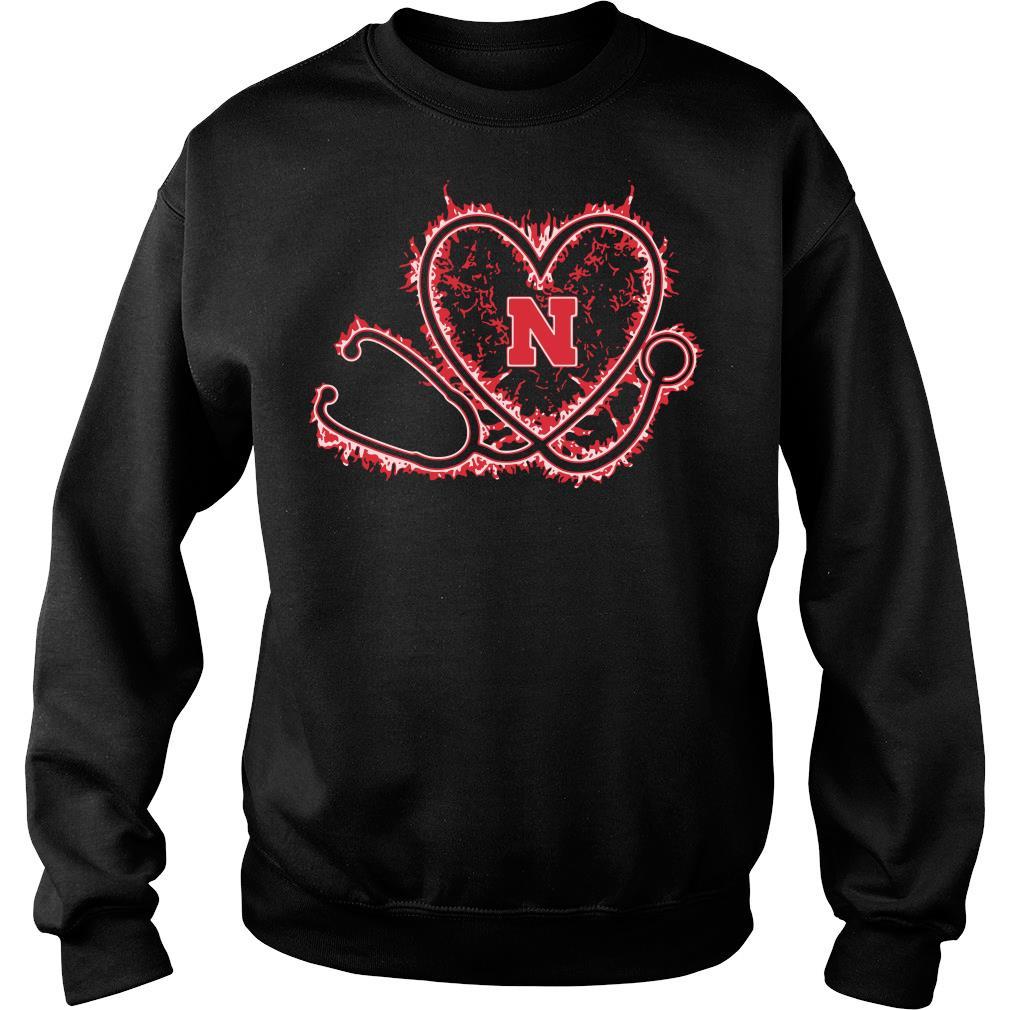 Nurse heart Nebraska Cornhuskers shirt sweater