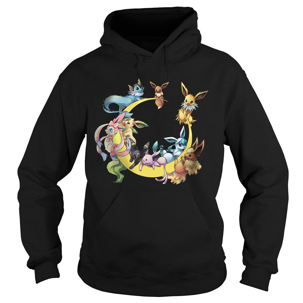 Pokemons Character In Moon Shirt hoodie