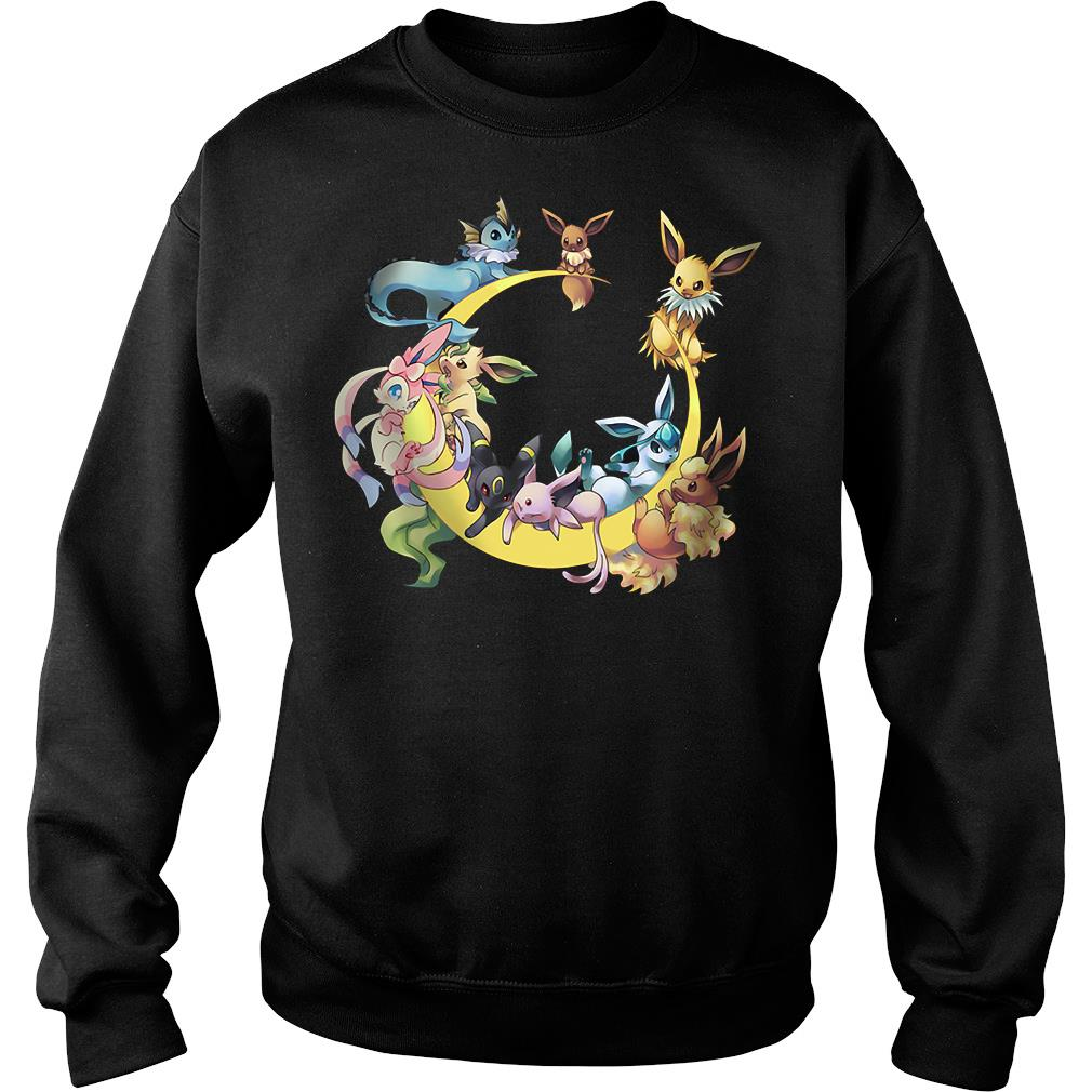 Pokemons Character In Moon Shirt sweater
