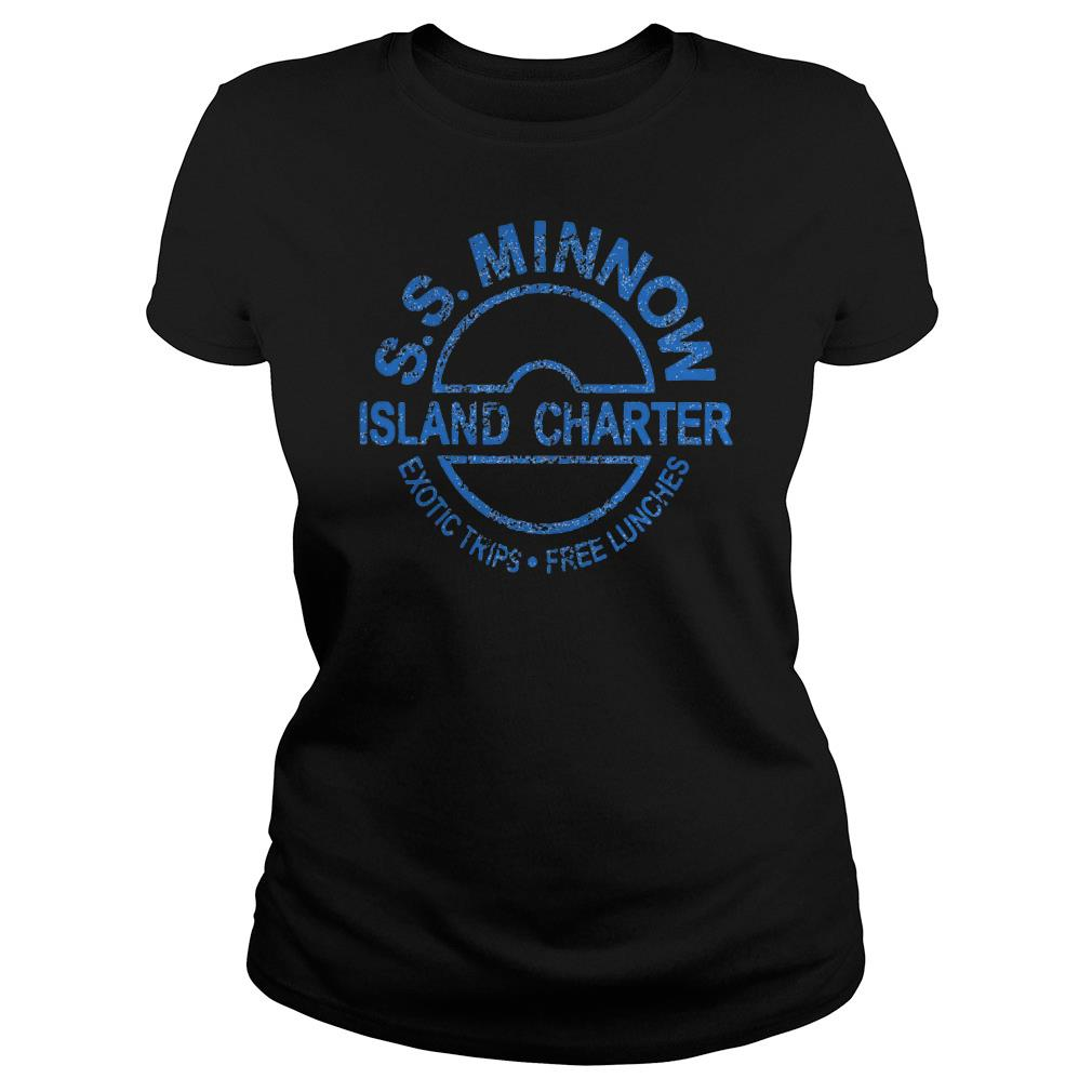 S S Minnow Island Charter Exotic Trips Free Lunches Shirt ladies tee