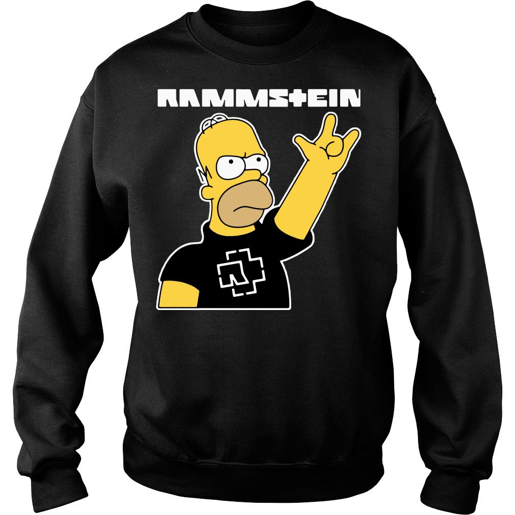 Simpsons rammstein shirt sweater