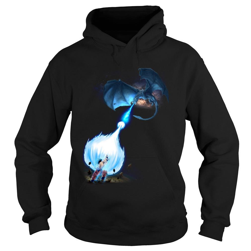 Son goku Vs Dracarys shirt hoodie