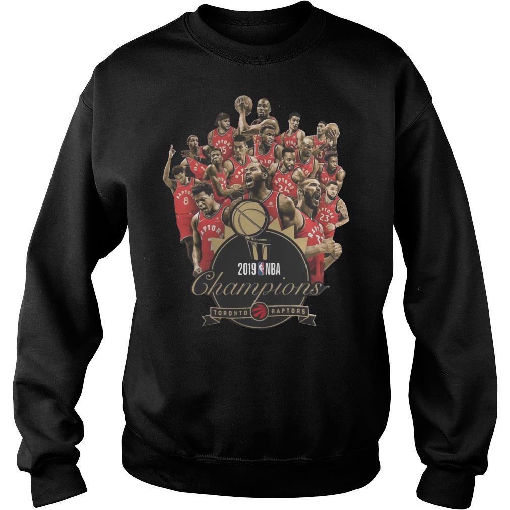 Toronto Raptors Champions of NBA 2019 shirt sweater