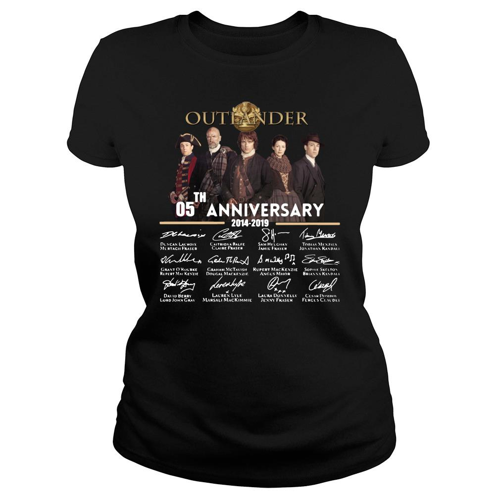 05th Anniversary Outlander Signature Shirt ladies tee