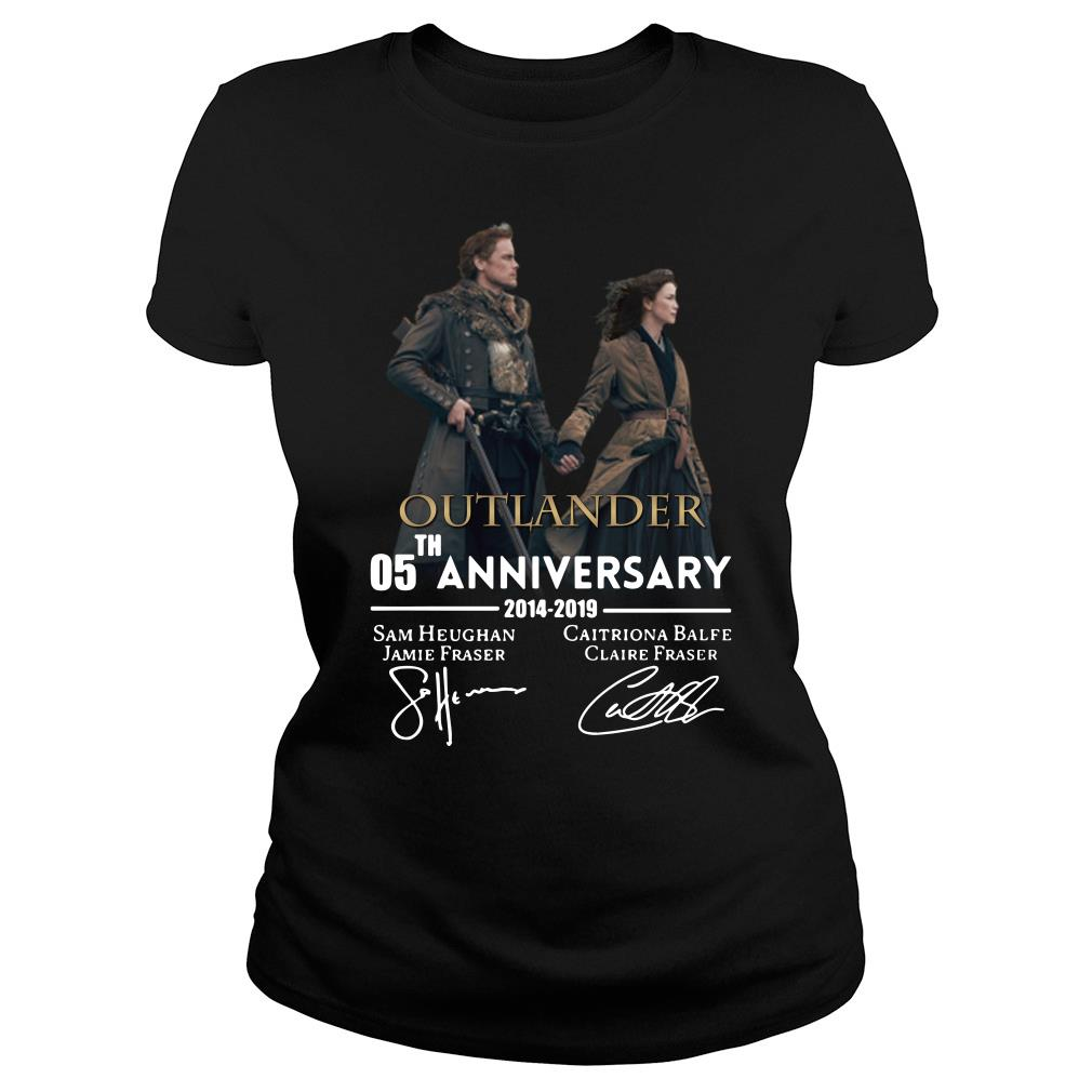 05th anniversary outlander shirt ladies tee