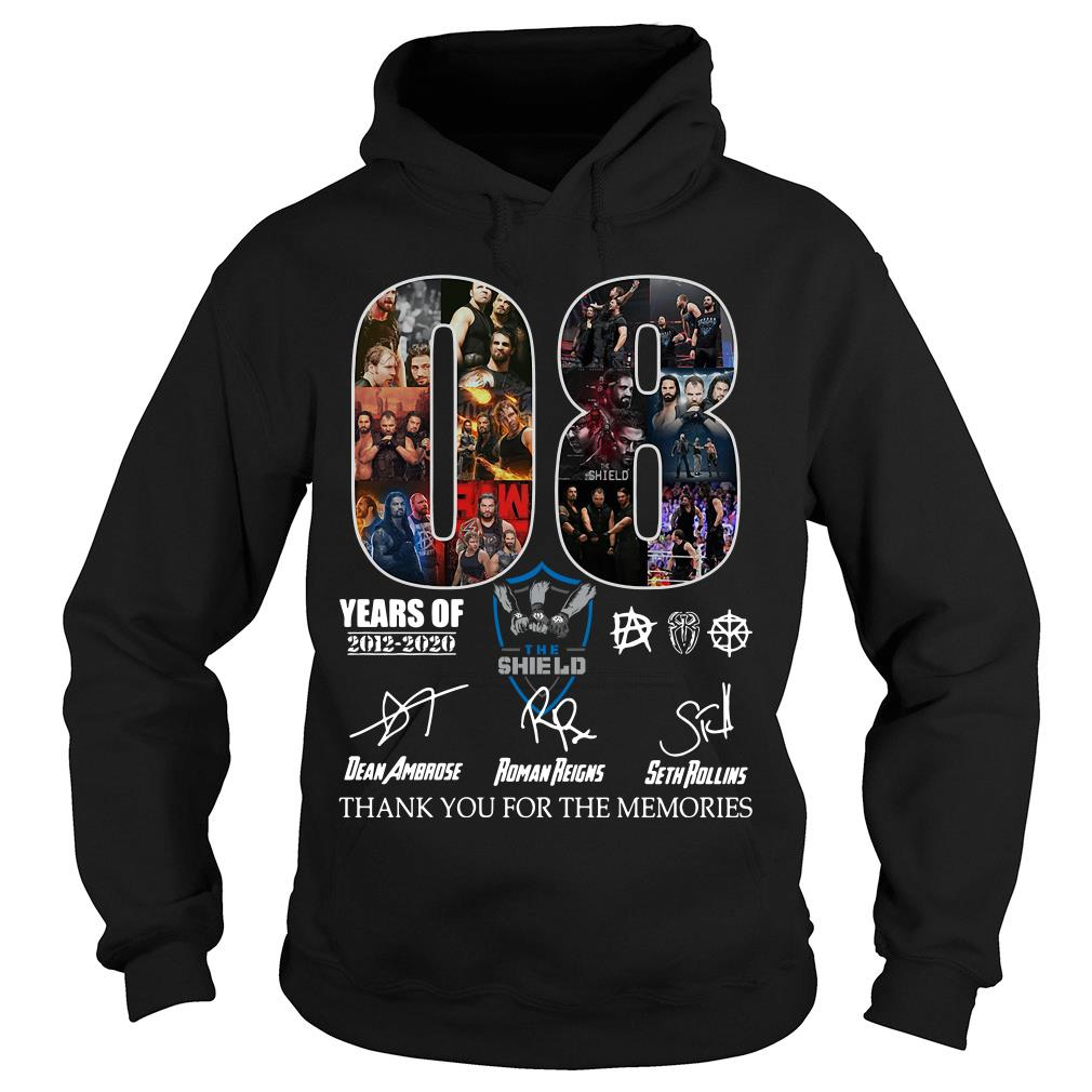 08 years of the SHIELD thank you for the memories signature shirt hoodie
