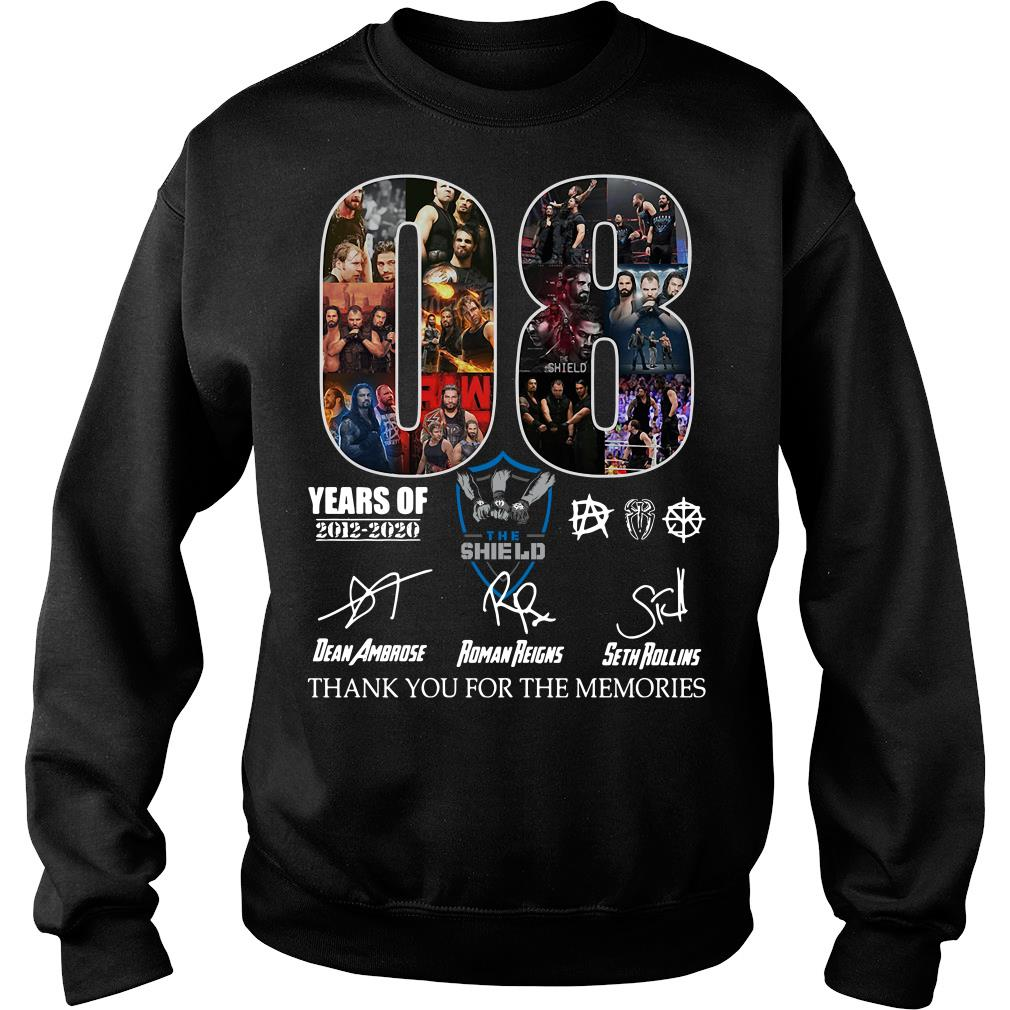 08 years of the SHIELD thank you for the memories signature shirt sweater