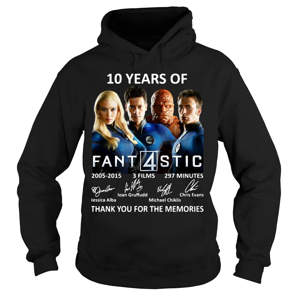 10 Years Of Fantastic Four Thank You For The Memories Shirt hoodie