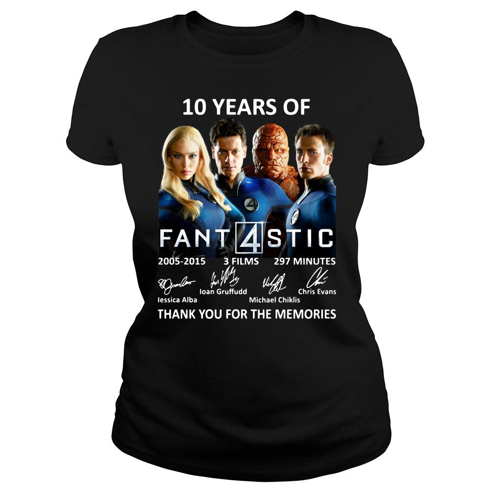 10 Years Of Fantastic Four Thank You For The Memories Shirt ladies tee