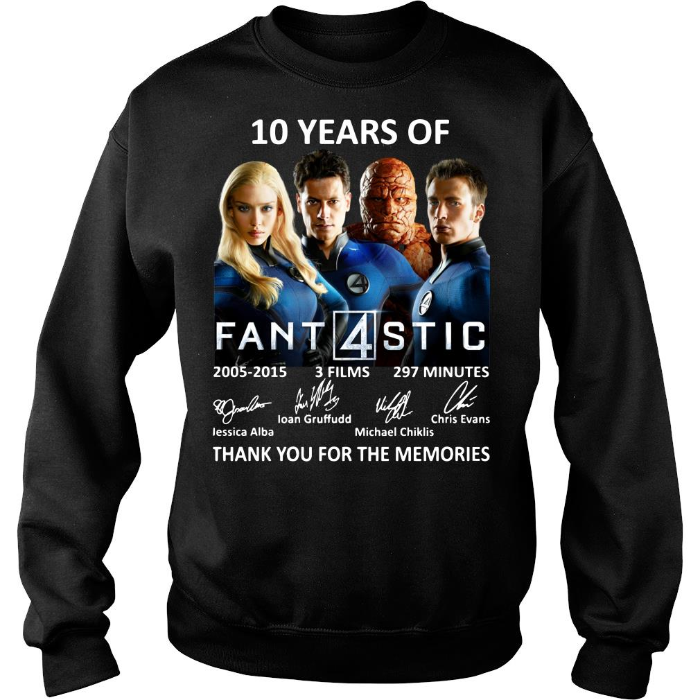 10 Years Of Fantastic Four Thank You For The Memories Shirt sweater