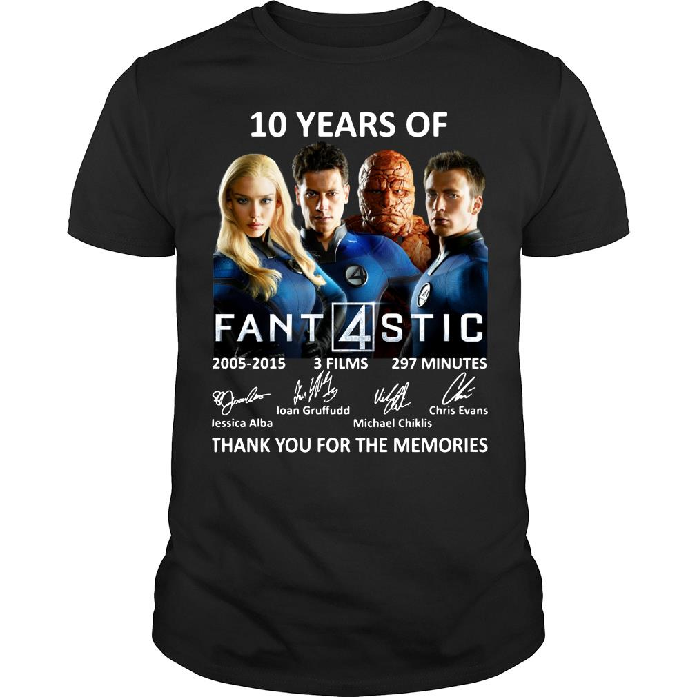 10 Years Of Fantastic Four Thank You For The Memories Shirt