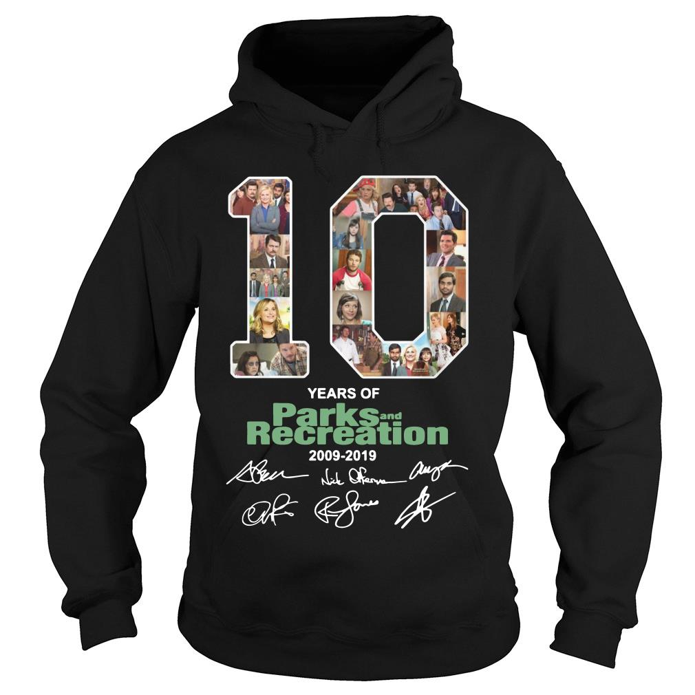 10 Years Of Parks And Recreation Shirt hoodie