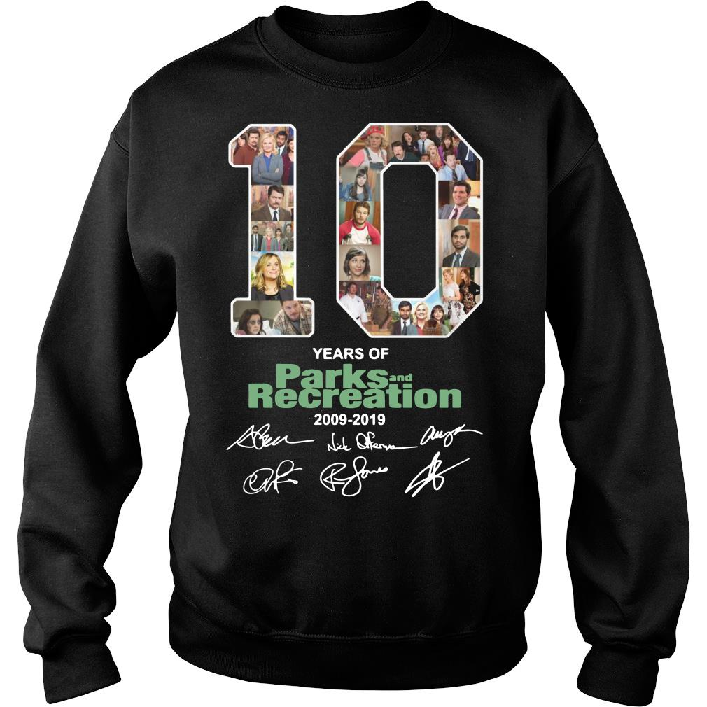 10 Years Of Parks And Recreation Shirt sweater