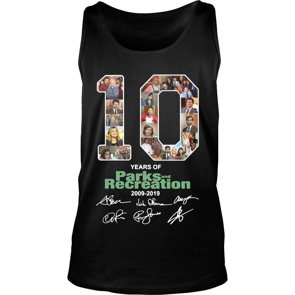 10 Years Of Parks And Recreation Shirt tank top