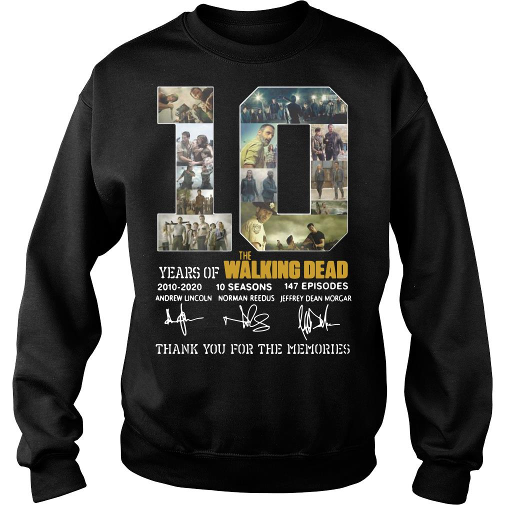 10 Years Of The Walking Dead Thank You For The Memories Shirt sweater