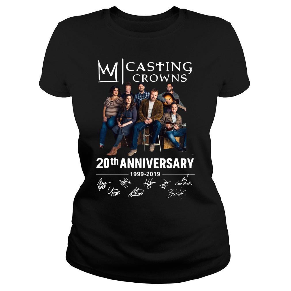 Casting Crowns 20th Anniversary 1999 2019 Signature Shirt ladies tee