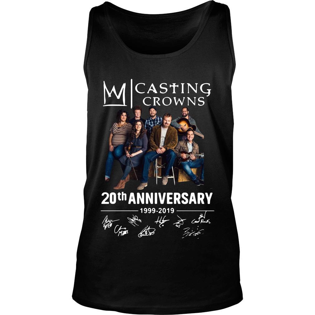 Casting Crowns 20th Anniversary 1999 2019 Signature Shirt tank top