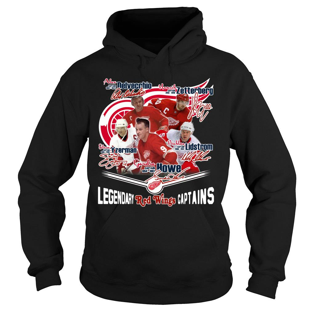 Legendary Red Wings Captains Signature Shirt hoodie