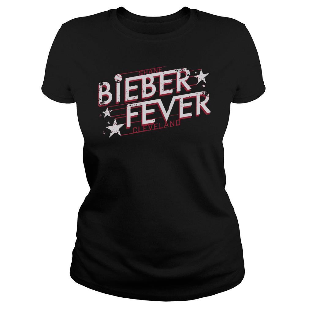 Shane Bieber fever cleveland shirt ladies tee