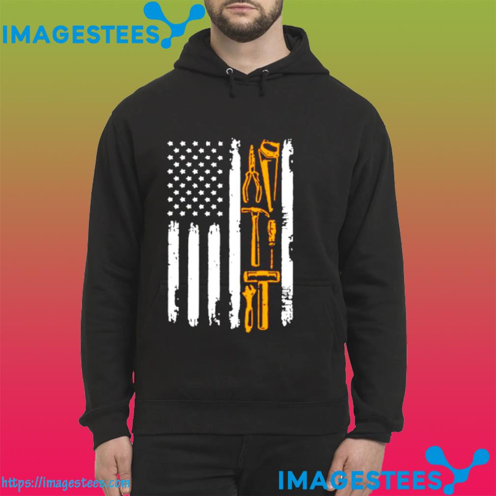Carpenter With American Flag hoodie