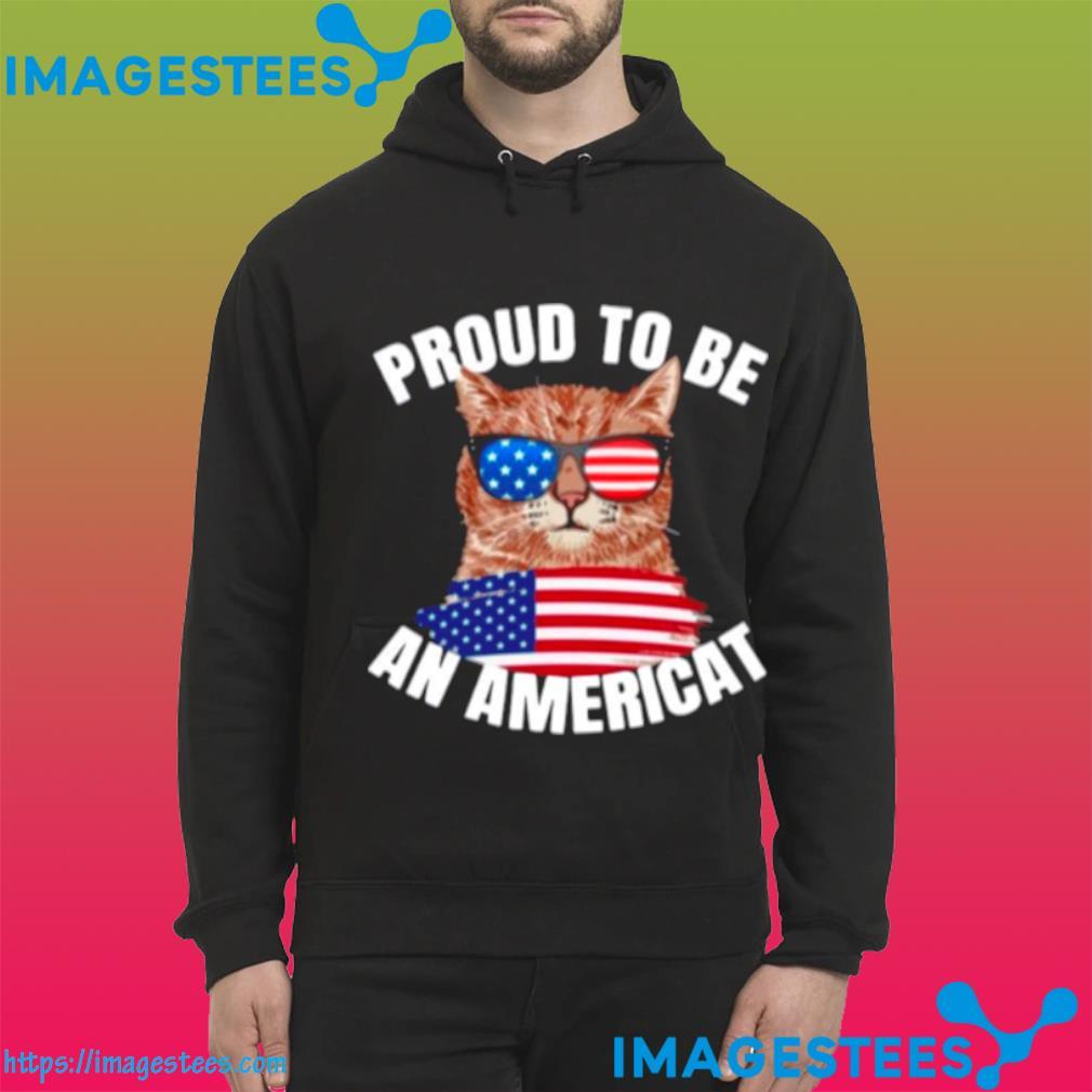 Cat Proud To Be An Americat Flag hoodie
