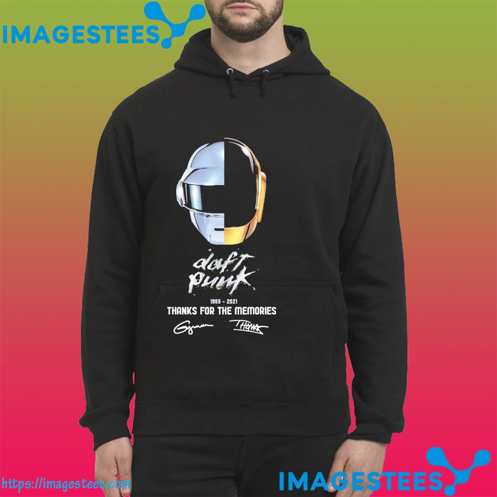 Daft punk 1993 2021 thanks for the memories signatures hoodie