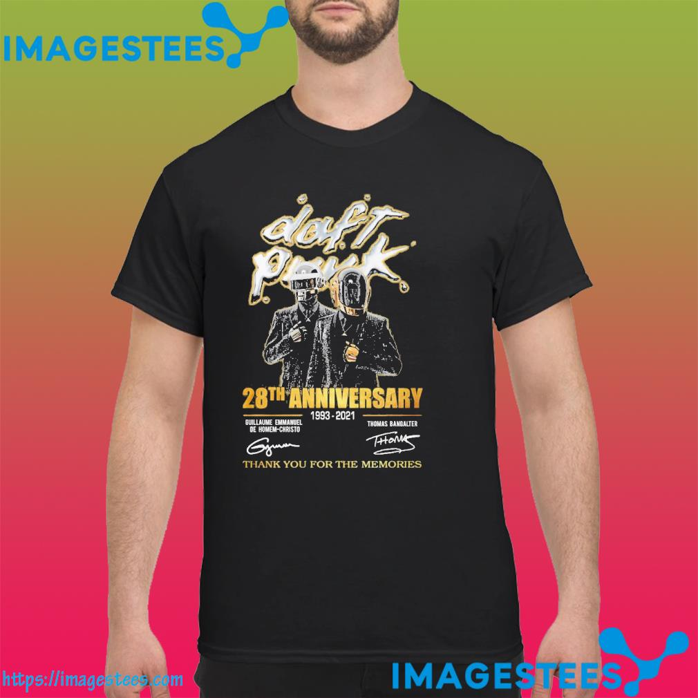 Daft punk 28th anniversary 1993 2021 thank you for the memories signatures shirt