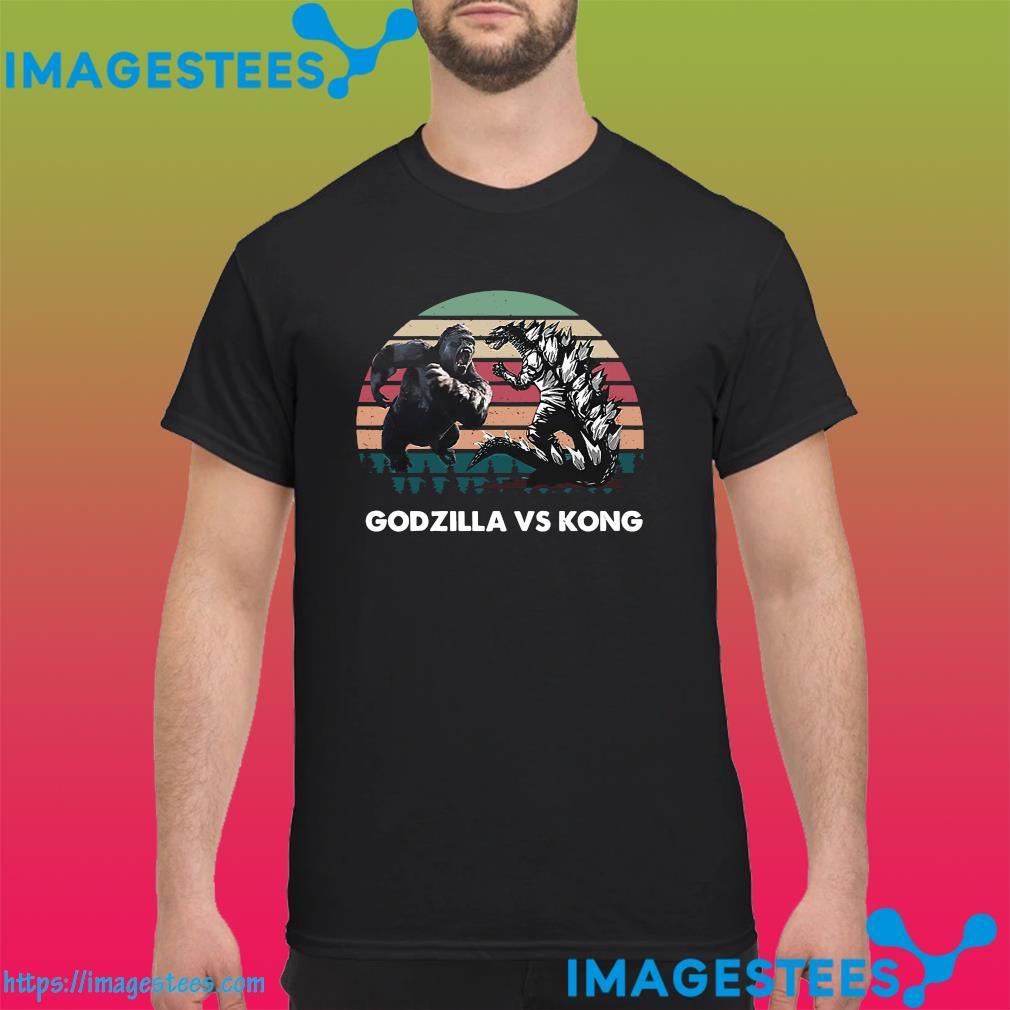 Godzilla Vs Kong Shirt - Godzilla Vs Kong 2021 Rodan Mothra Monster Vintage Shirt