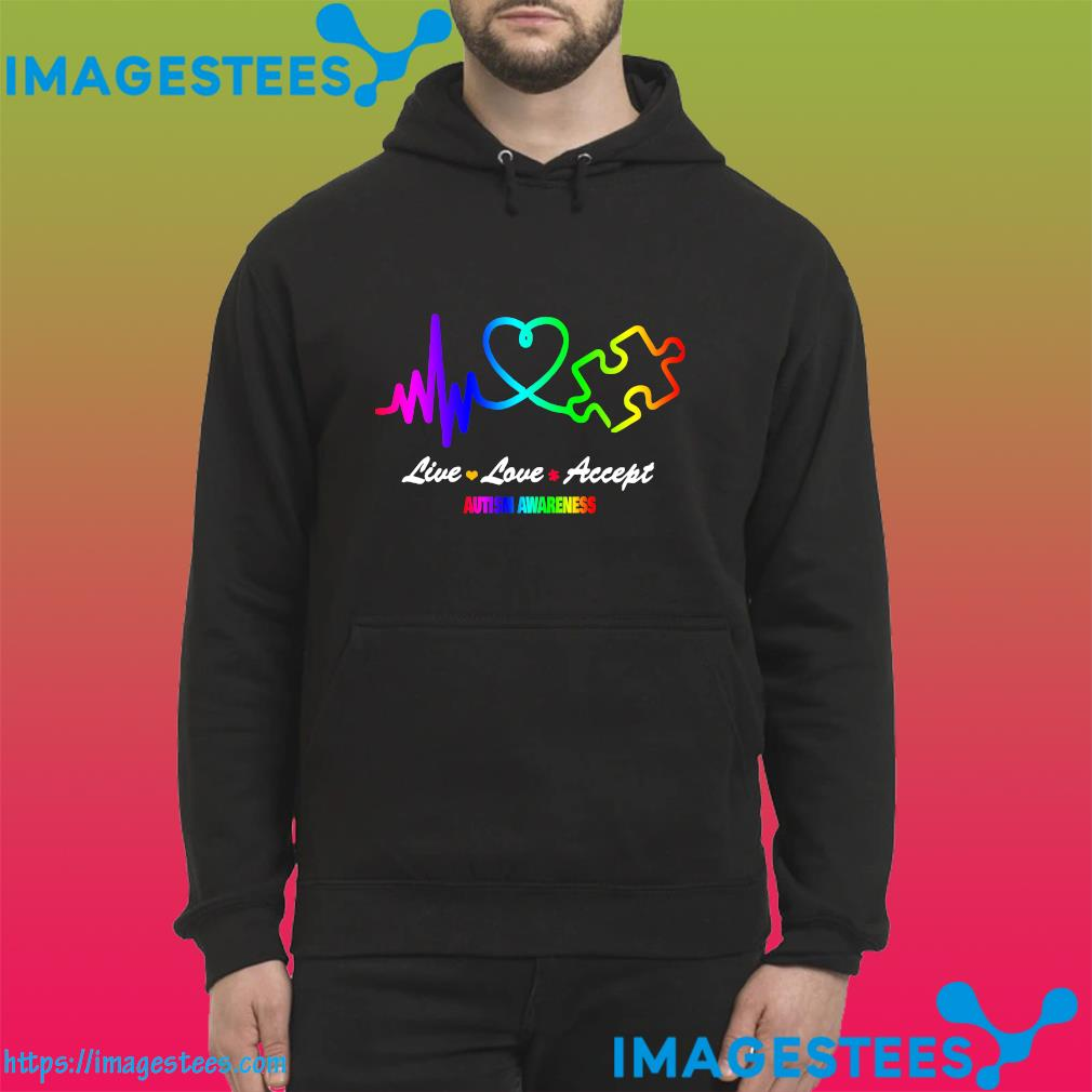 Official Live Love Accept Autism Awareness Shirt hoodie