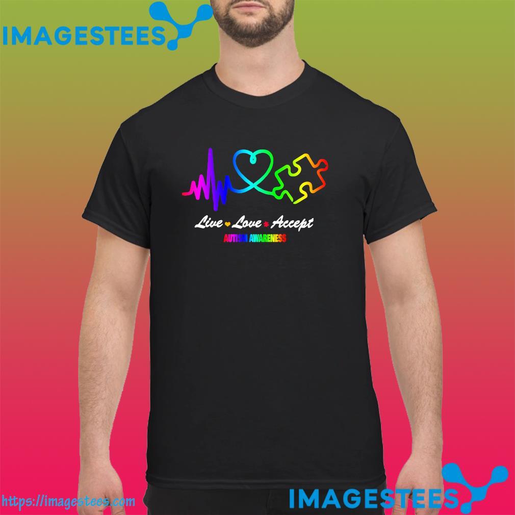 Official Live Love Accept Autism Awareness Shirt