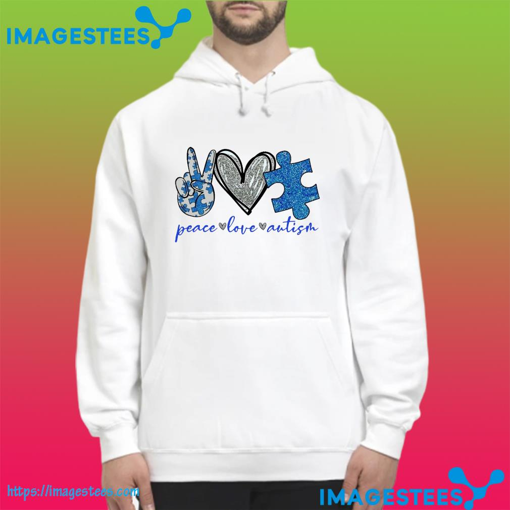Official Peace Love Autism Shirt hoodie