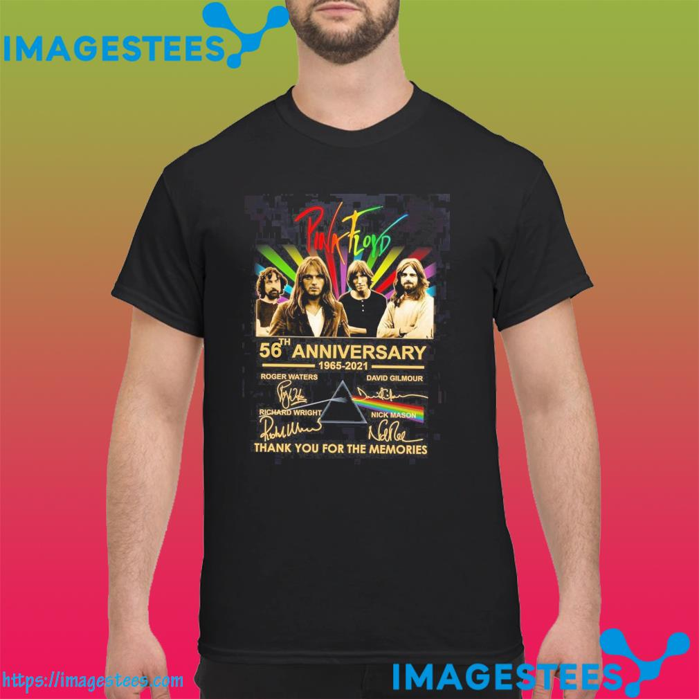 Pink Floyd 56th Anniversary 1936 2021 Signatures Thank You For The Memories Shirt