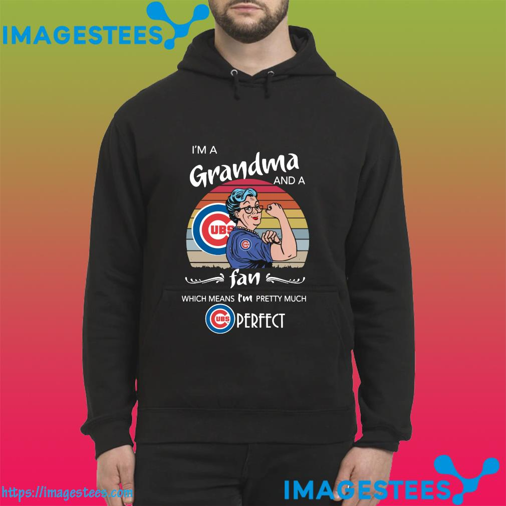Strong Grandma I'm A Grandma And A Fan Which Means I'm Pretty Much Perfect Vintage Shit hoodie