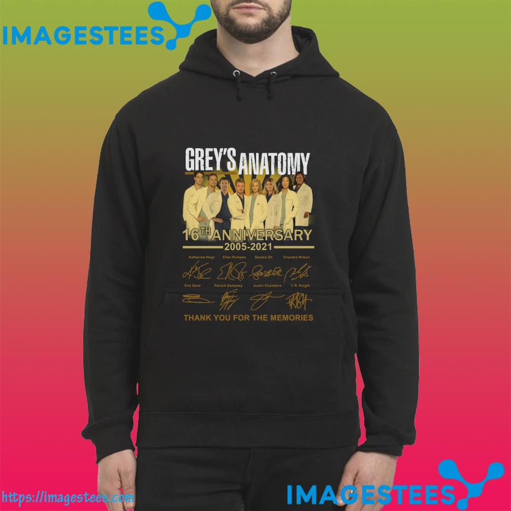 Thank You For The Memories Of The Grey's Anatomy 16th Anniversary 2005 2021 Signatures Shirt hoodie