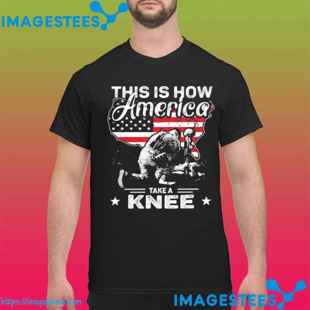 This Is How America Take A Knee Veteran American Flag Shirt