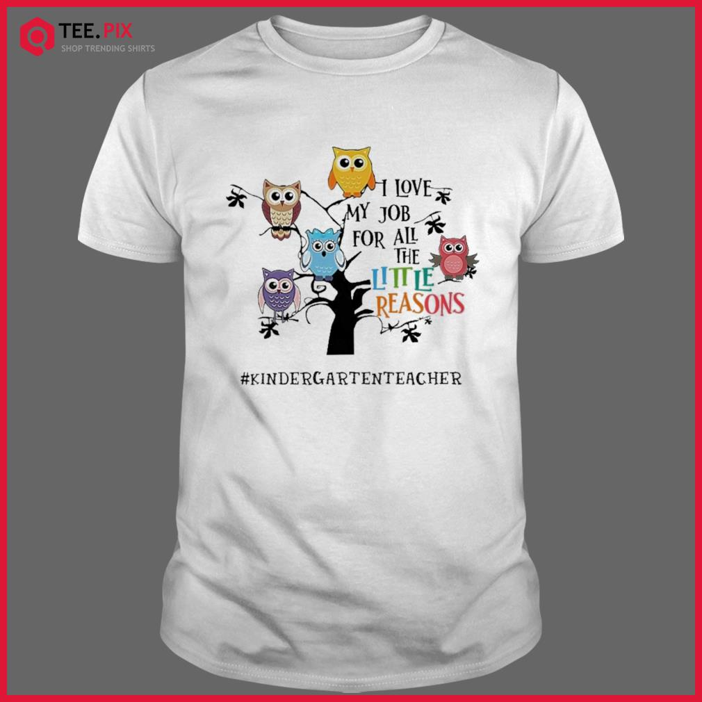 Owls I Love My Job For All The Little Reasons Kindergarten Teacher Shirt