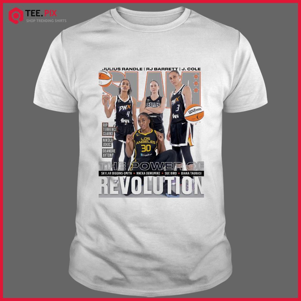 SLAM Skylar, Nneka, Sue Diana June, July 2021 Revolution Shirt