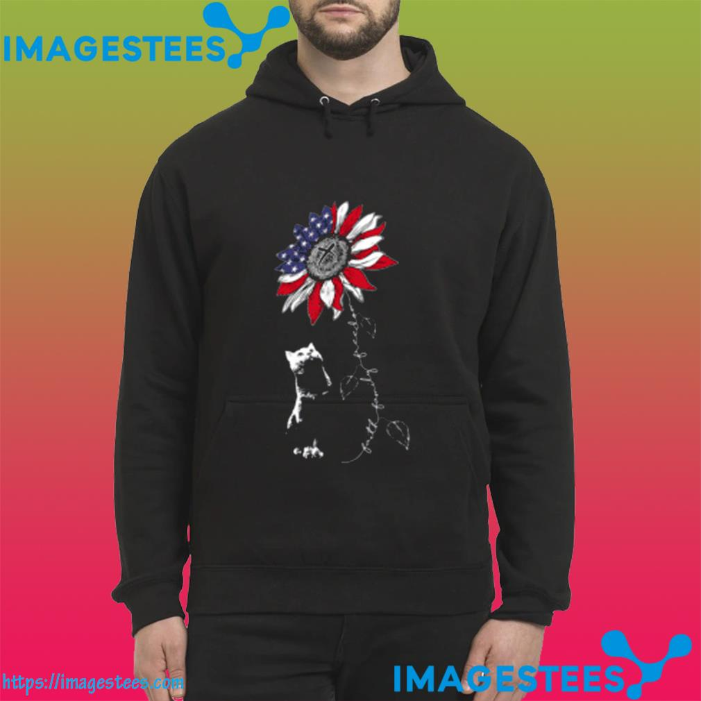 Sunflower 4th of July Patriotic Faith Family Freedom Shirt hoodie